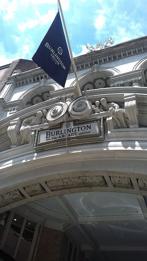 The Burlington Arcade and the Shopping Arcades Tour with Cindy Lawford