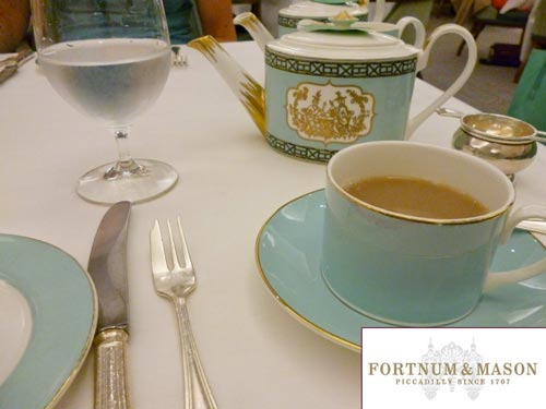 Tea at Fortnum & Mason after the Jermyn Street Tour